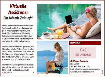 Presse Bericht 2020 Virtuelle Assistenz.