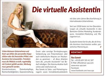 Presse Bericht 2019-Virtuelle Assistenz.