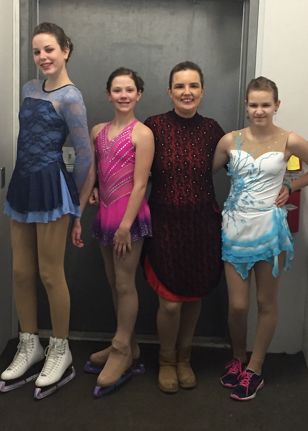 Pictured (L to R): Senior Skaters - Chloe, Janae, Kennedy & Eleanor