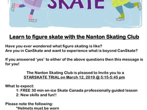Learn to figure skate with the Nanton Skating Club! - StarSkate Trial session next week.