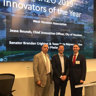 Innovators of the Year: Jesse Bounds (City of Houston) and Auggie Campbell (West Houston Association)