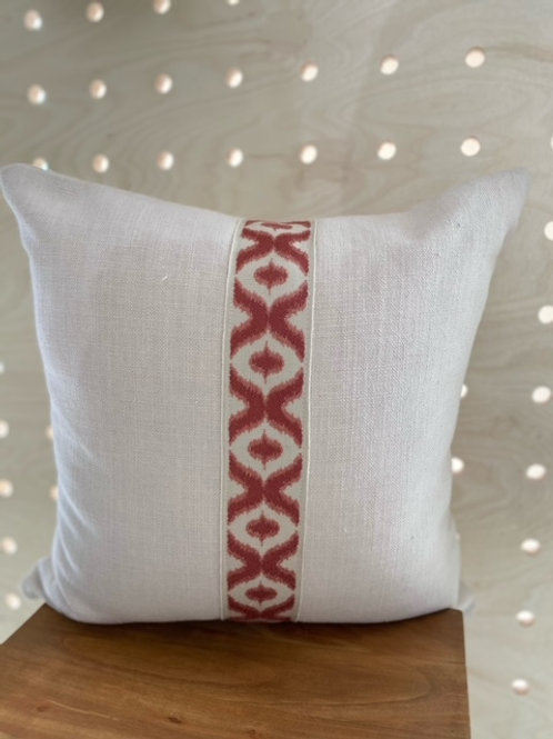 The Riva Cushion- Oyster/trim