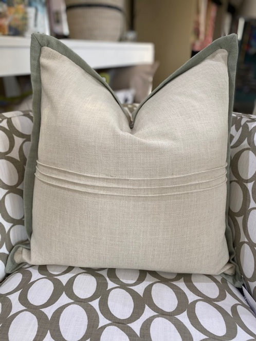 The River Cushion- Oyster/Sage