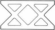 Breeze Block - Style 1303 - Double X