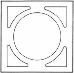 Breeze Block - Style 1111 - Circle