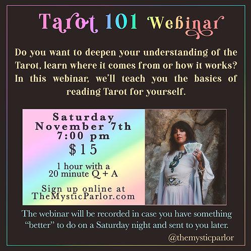 Tarot 101 Webinar