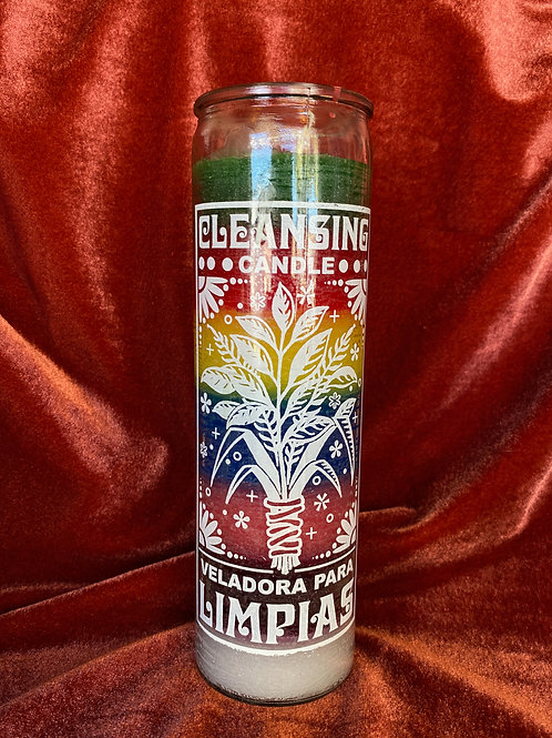 Cleansing Rainbow~ Limpias Candle
