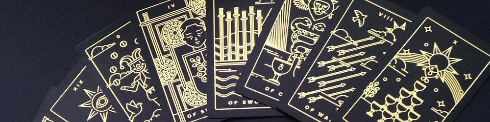 Photo of the Golden Thread Tarot deck