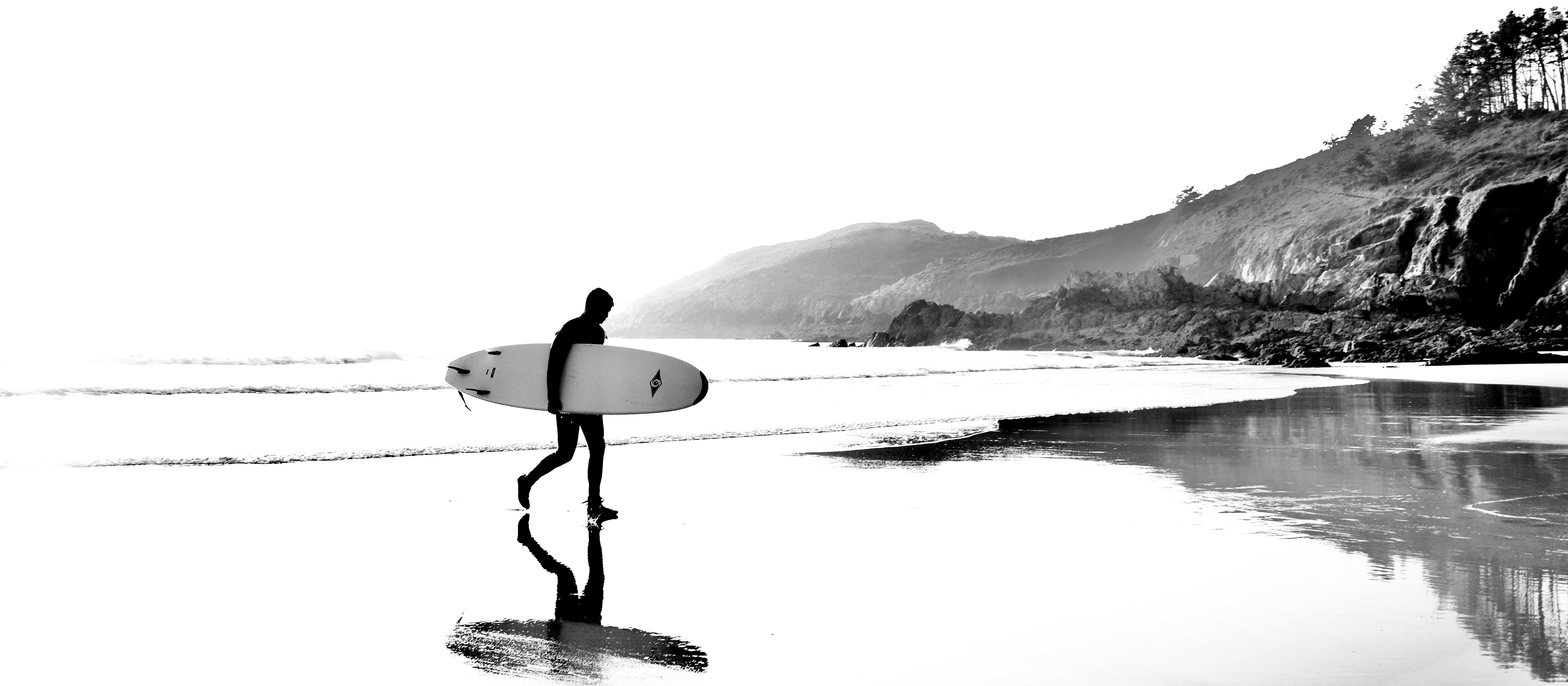 Le surfeur et son reflet