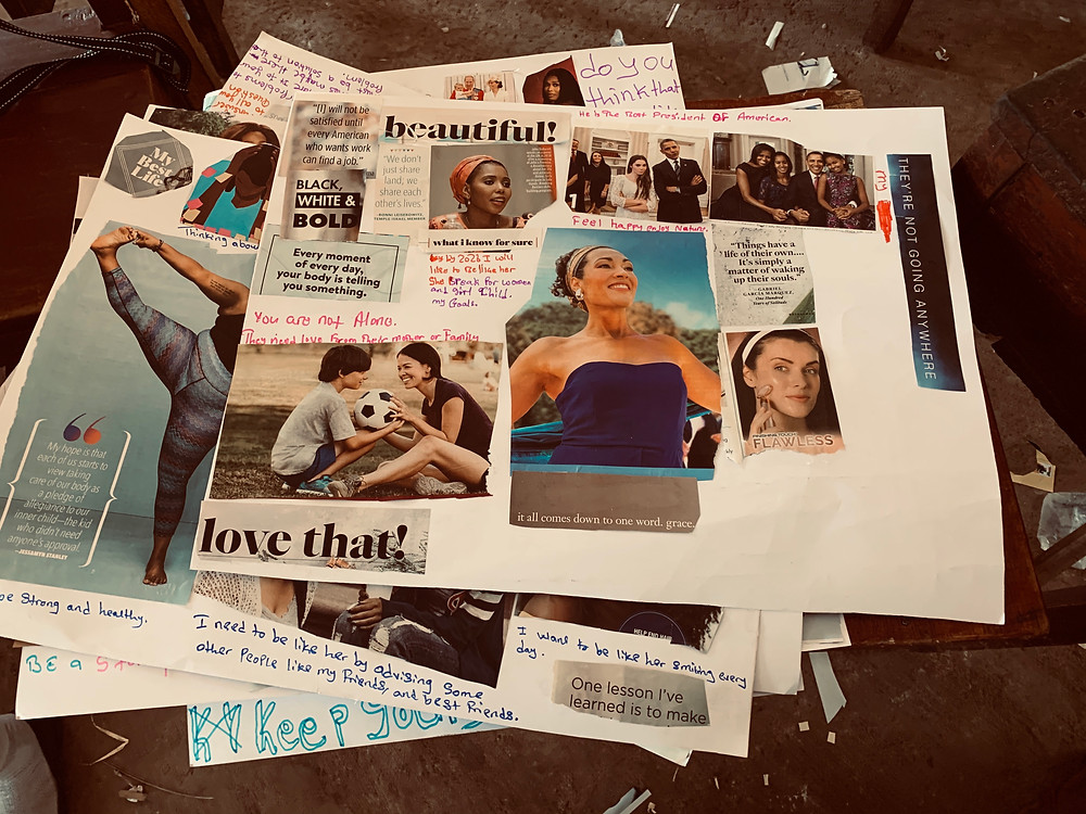 Vision Board created by members of Girl Up Vine Club Sierra Leone