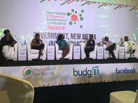 Speaker at NMCG conferene in Abuja, Nigeria speaking on youth inclusion in the electioneering process in Africa