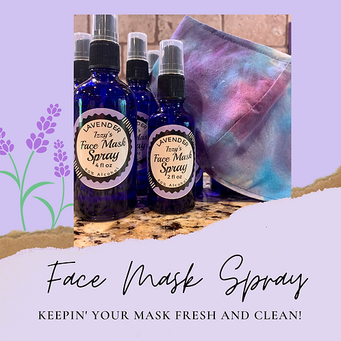 Face Mask Sanitizer and Refresher 2oz