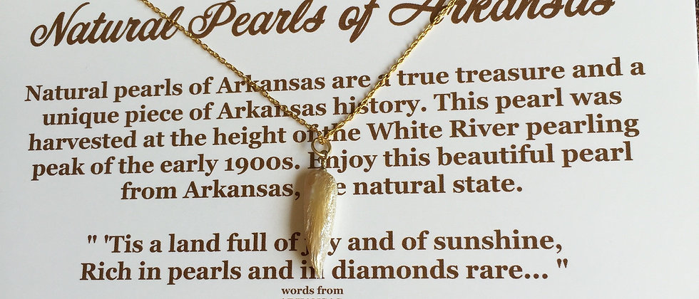 Arkansas Angel Wing Natural Pearl Necklace