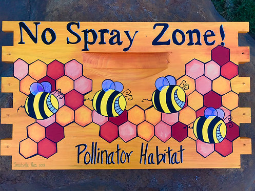 No Spray Zone Sign