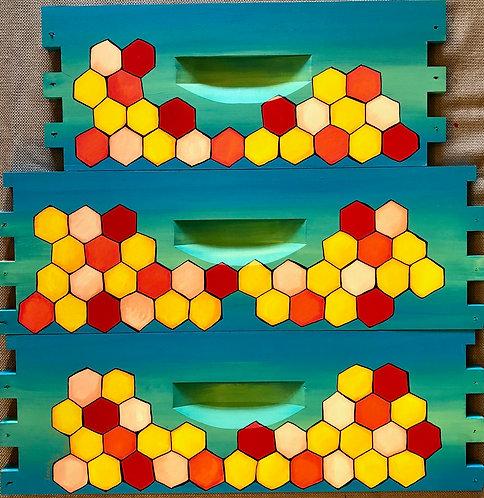 IN STOCK: Just Honeycomb MEDIUM SUPER Teal/Green Unassembled