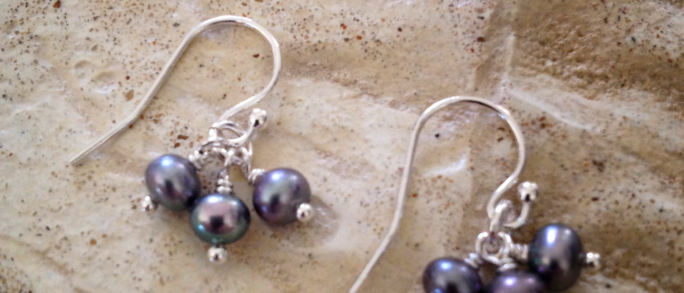 Delicate Dangle Pearl Earrings