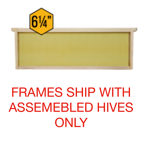 MEDIUMS: Natural Build Right Bees Wax Assembled Frames