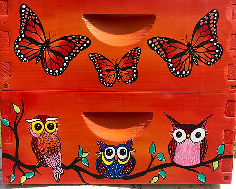 Wise Old Owls with Monarch Butterfly Set
