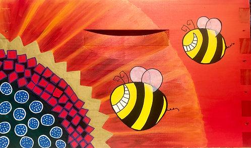 Sunflower & Crazy Bees