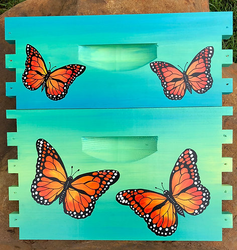 IN STOCK: Monarch Butterfly Teal/Green Unassembled