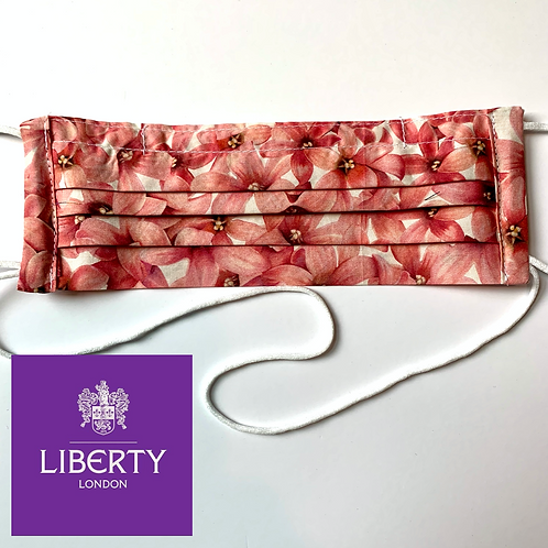 Liberty of London Pleated Face Mask in Pink Posies