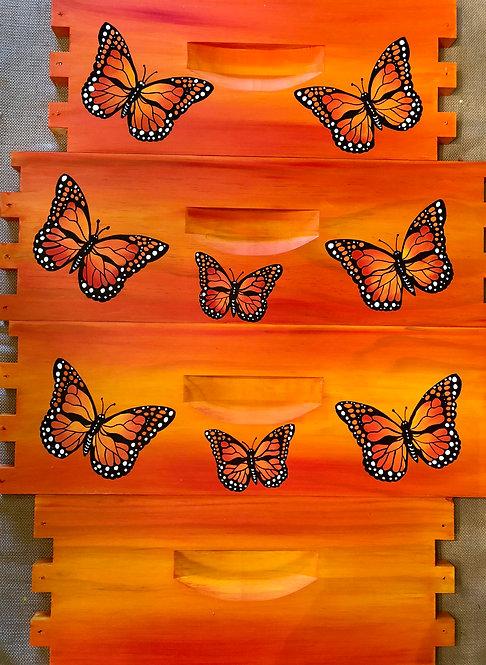 IN STOCK: Monarch Butterfly MEDIUM SUPER Orange/Yellow Unassembled