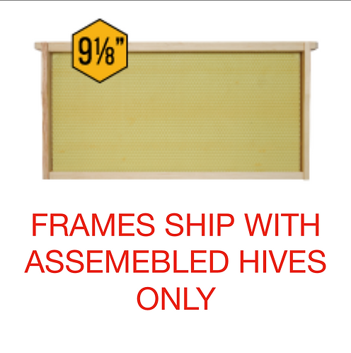 DEEP: Natural Build Right Bees Wax Assembled Frames