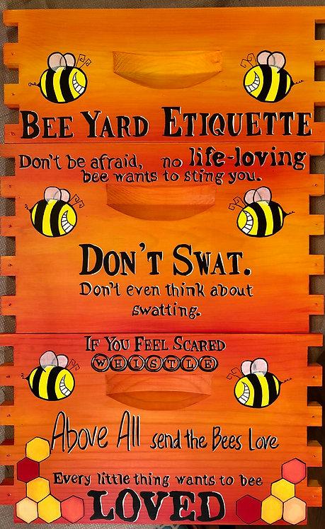 IN STOCK: Bee Yard Etiquette Set -Orange/Yellow Unassembled