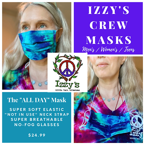 Women's Izzys Crew Tie Dye Face Mask