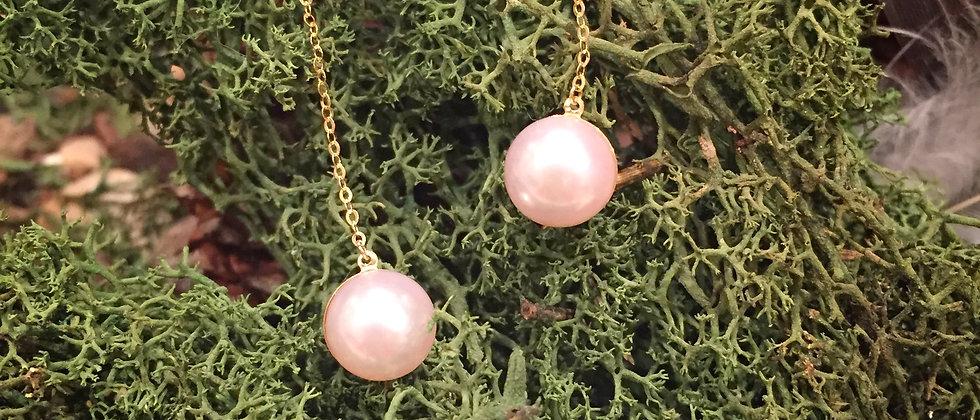 Single Pearl Threader Earrings