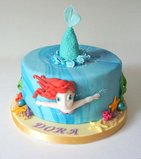3D mermaid cake