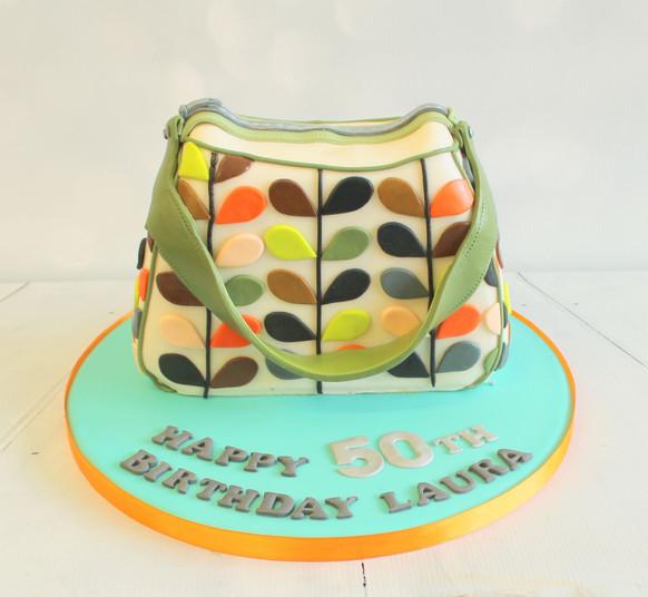 Orla Kiely Bag cake