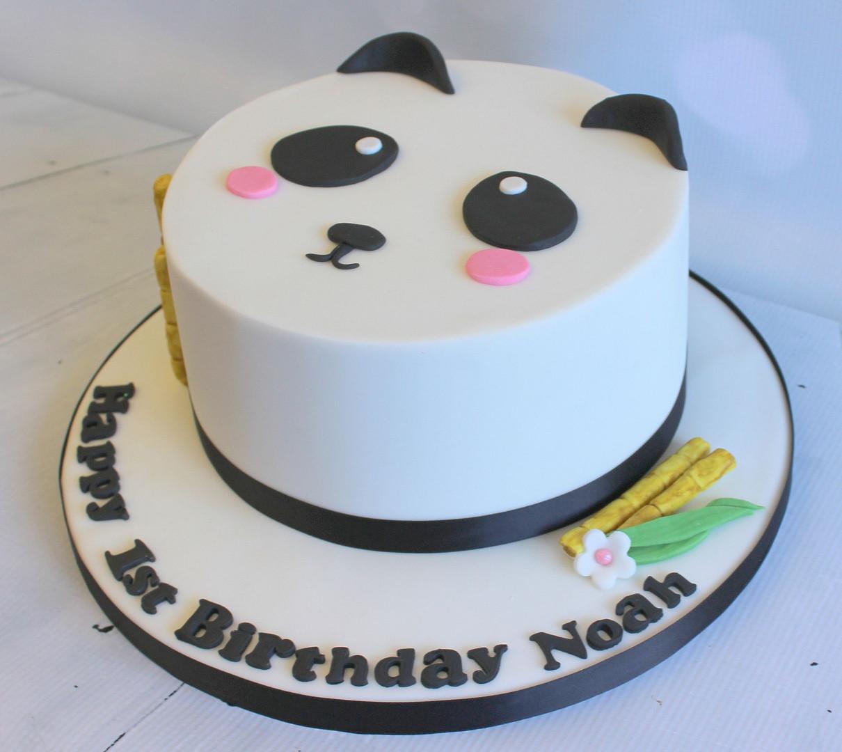 Panda Face Cake