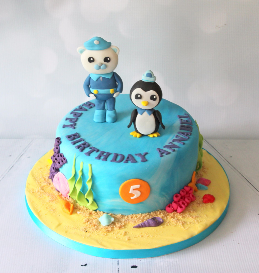 Octonauts figure cake