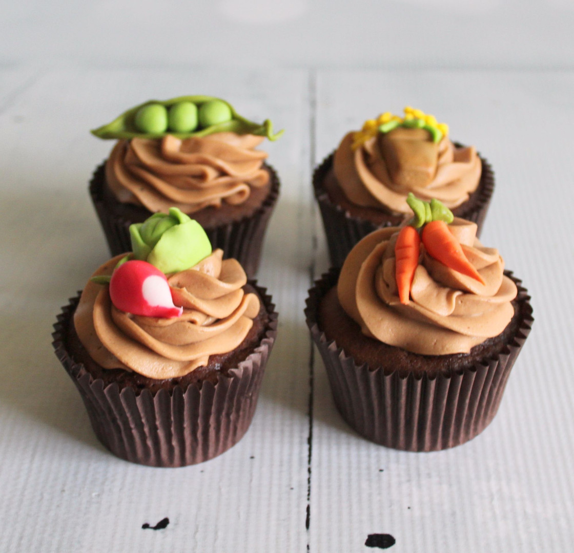 Vegetable Patch Cupcakes
