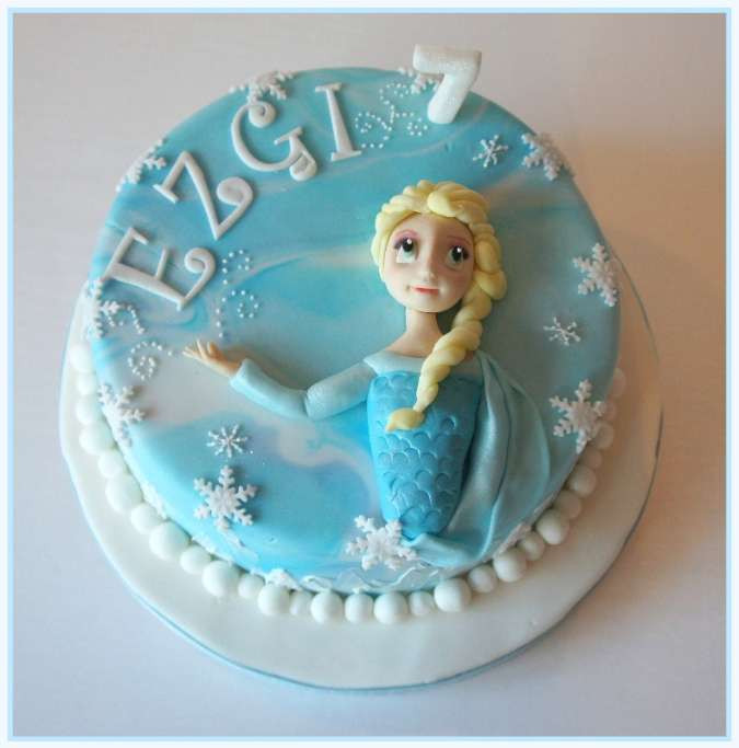Frozen Cake Elsa 2D figure
