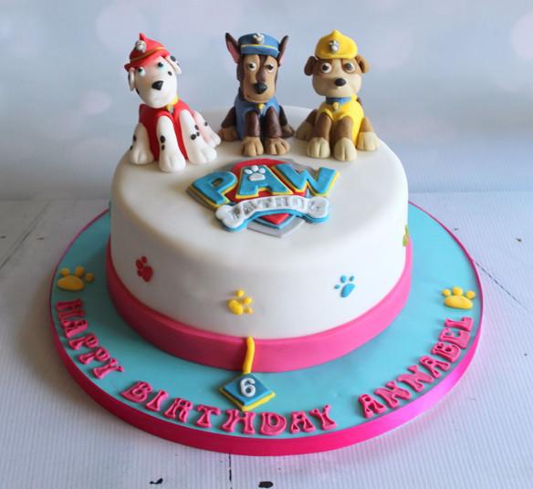 Girls Paw Patrol Cake