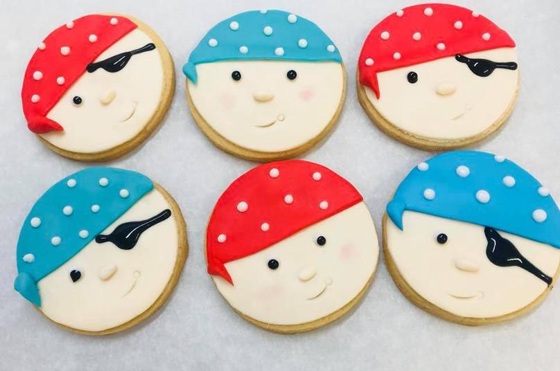 Pirate Face Biscuits