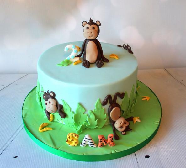 Monkey Cake with figures