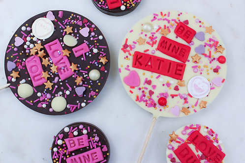 Personalised Valentine's Day Chocolate Lollipop