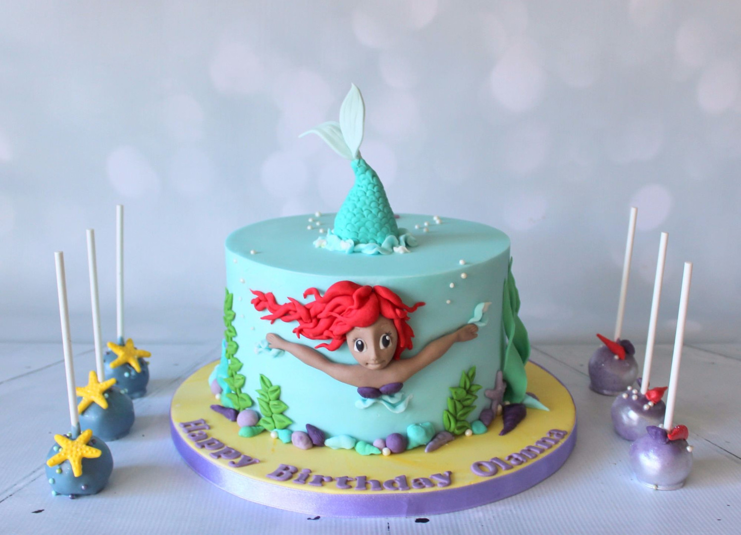 3D Mermaid Cake with Cake pops