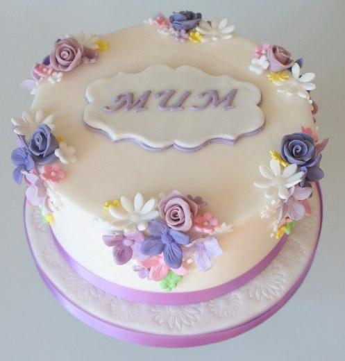 Mum Flower Cake