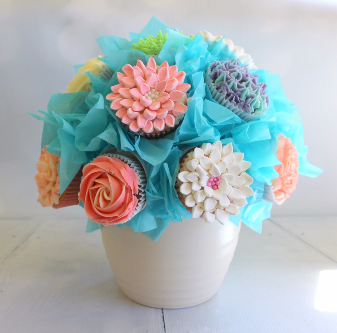 Bunch of Flowers Cupcakes