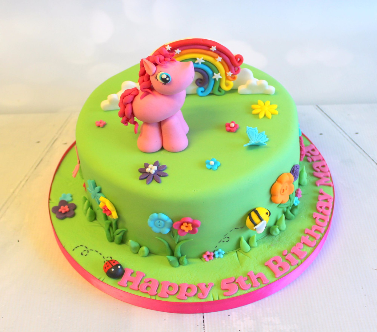 Unicorn Figure Cake with Rainbow