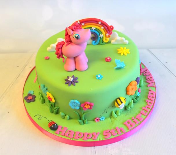 Unicorn Figure Cake with Rainbow