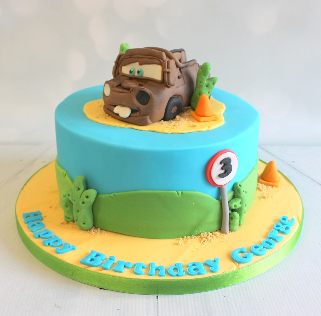 Cars Cake with figure