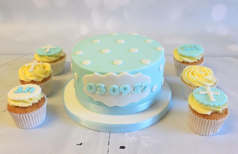 Baby Date Polka Dot Simple Cake.jpg