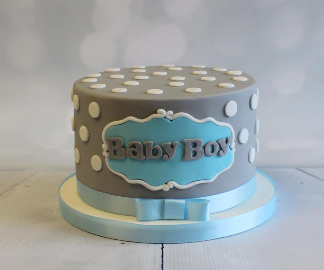 Baby Boy Simple Polka Dot Cake.jpg