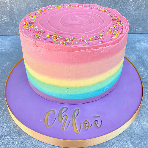 Vegan Rainbow Cake