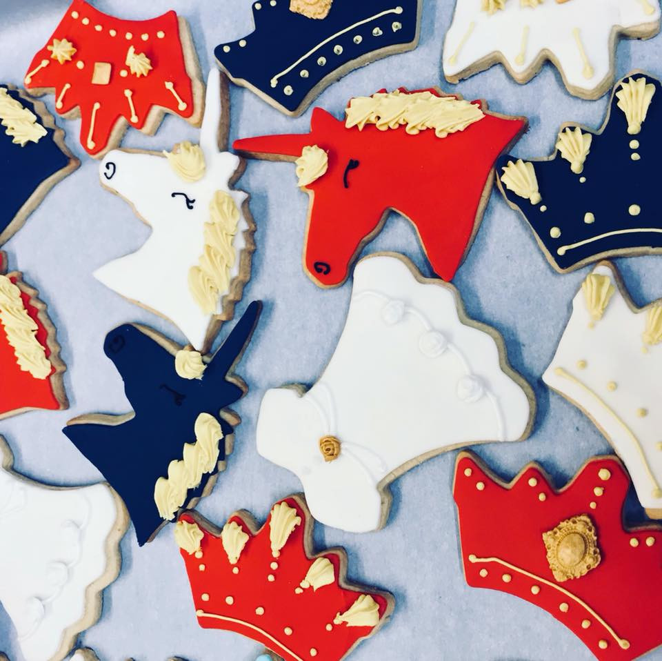 Royal Wedding Themed Iced Biscuits